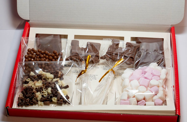 Luxury Belgian Hot Chocolate Gift Box - Trains