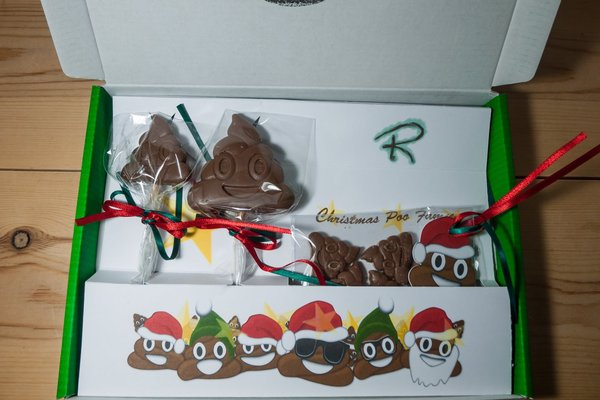 Christmas poop emoji set