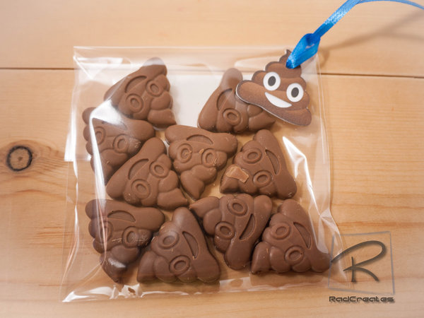 Emoji Mini poop Belgian chocolate bites  (3 x bags of 10 bites)