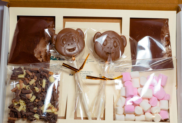 Luxury Hot Chocolate Gift Box for two. Cheeky Monkey