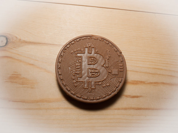 Belgian milk chocolate Bitcoins x 4